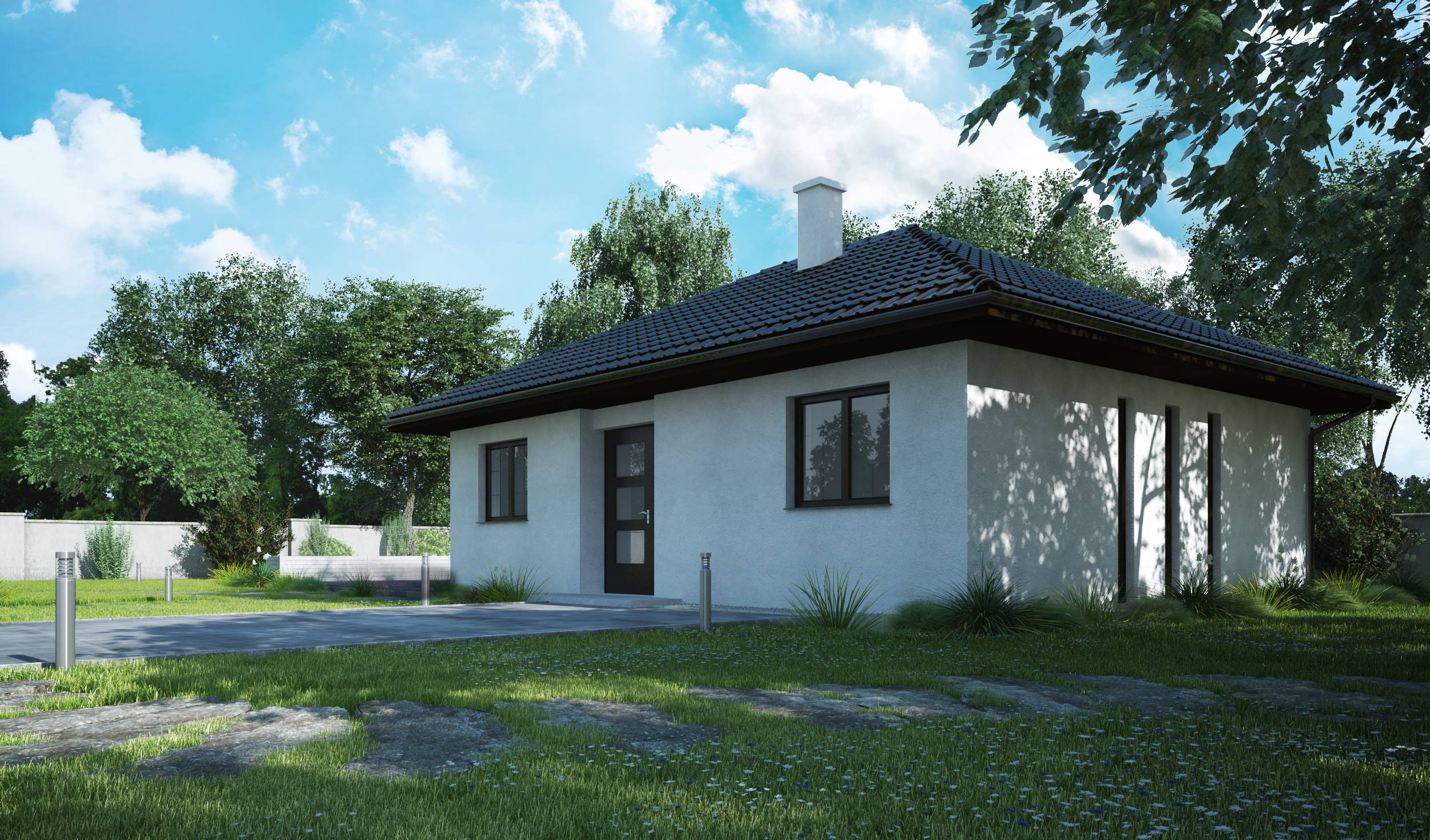 Zděné bungalovy levně